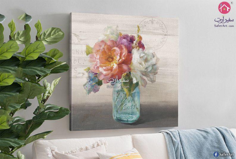 لوحه مودرن مميزه لاصيص من الزهور والورود