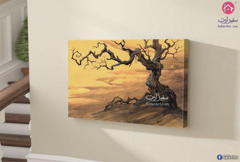 تابلوه حائط مميز مصمم بطريقه احترافيه لشجره كبيره فى فصل الخريف