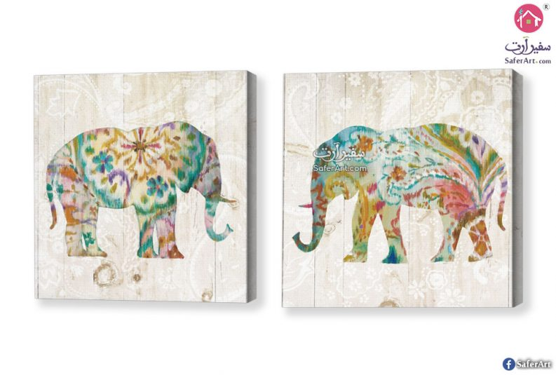 لوحه حائط – فيل