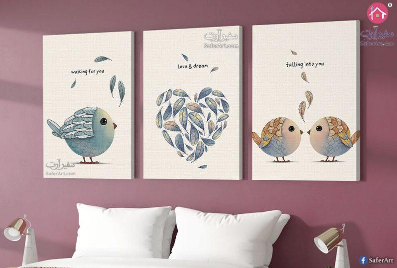Birds-and-heart wall-art