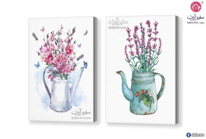 لوحات زهور وفراشات