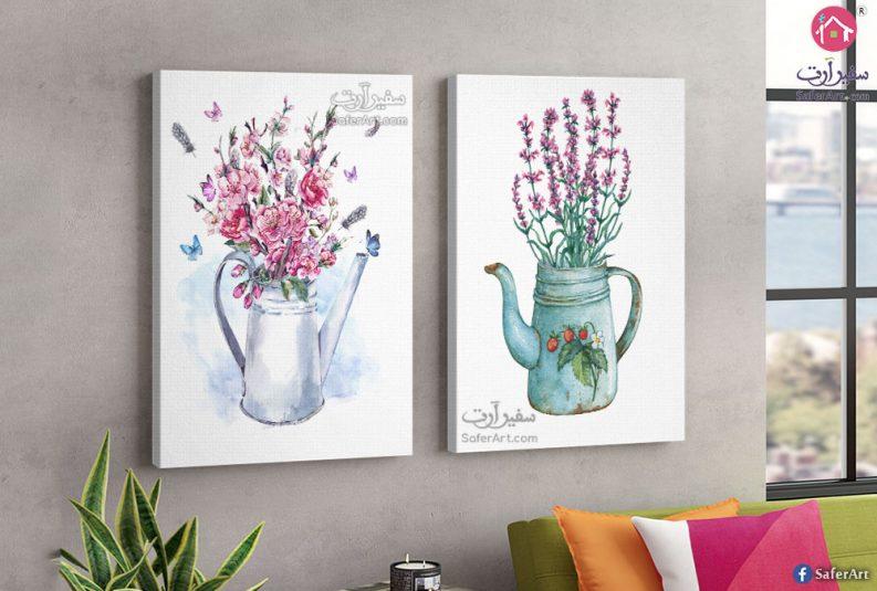 لوحات حائط زهور وفراشات
