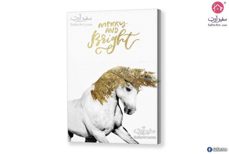 Golden horse-canvas