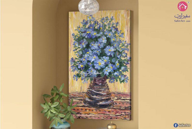 تابلوه حائط مودرن لمجموعه زهور وورود مرسومه بطريقه جذابه