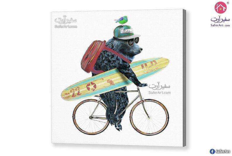 Bear-and-bike-canvas