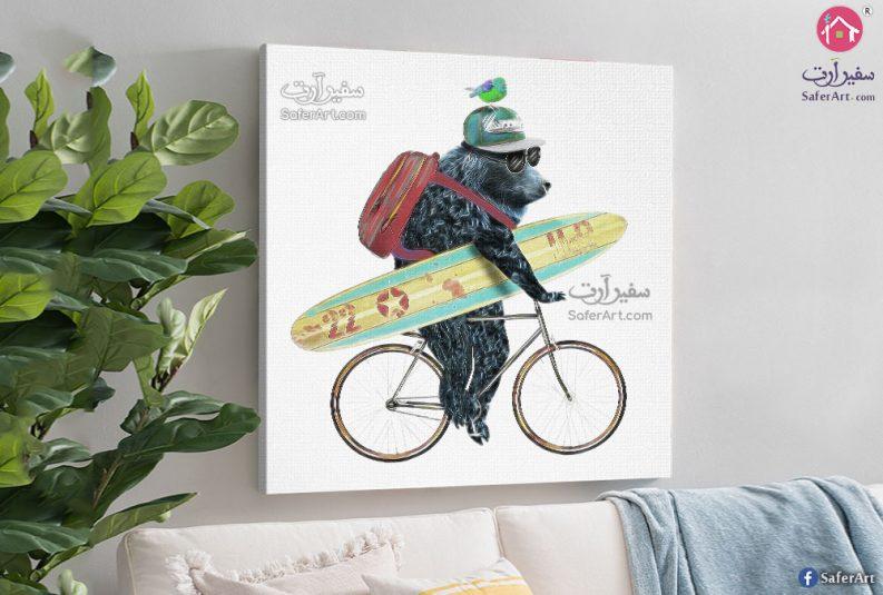 Bear-and-bike-wall-art
