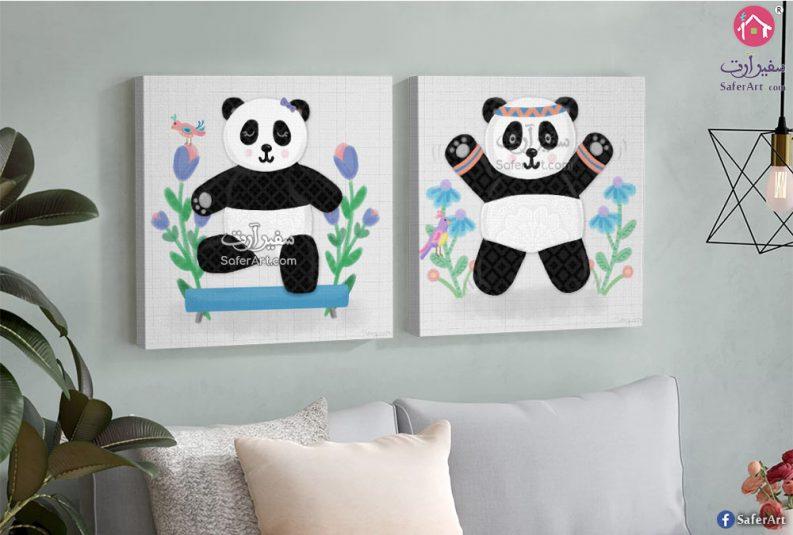 لوحه حائط لغرف الاطفال وعشاق حيوان الباندا
