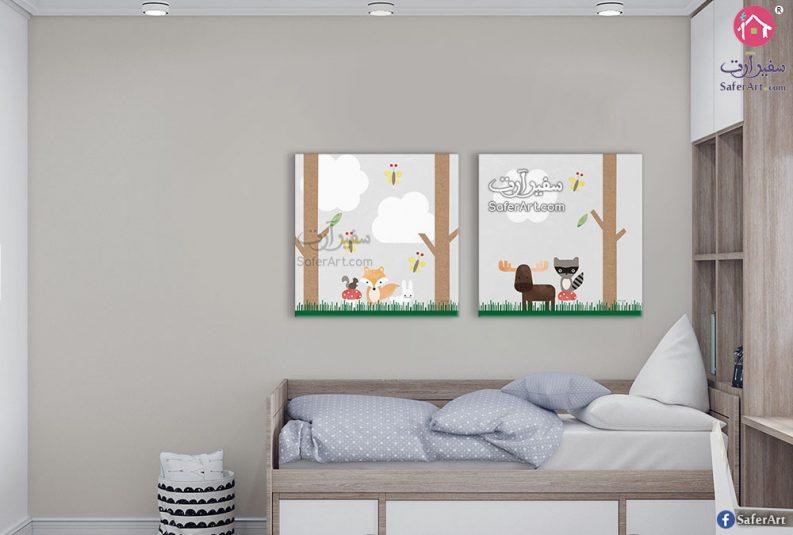 لوحات مصممه للاطفال لرسومات كرتونيه لحيوانات