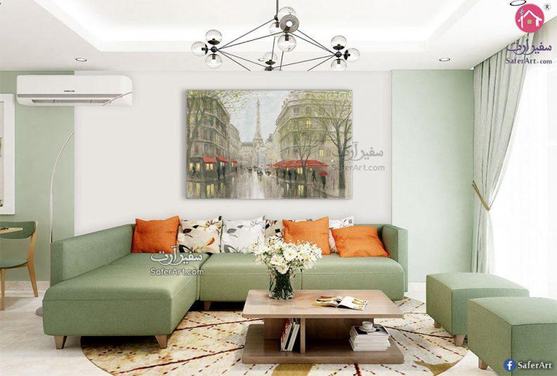 لوحات فنية لشوراع باريس