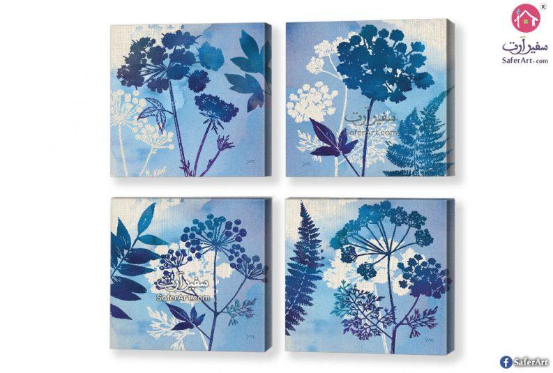 لوحة فنية ورود زرقاء