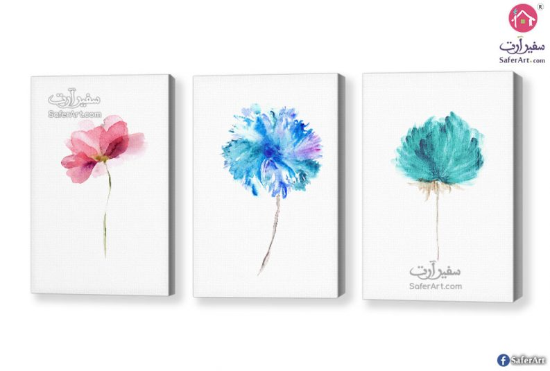 لوحات زهور ملونه