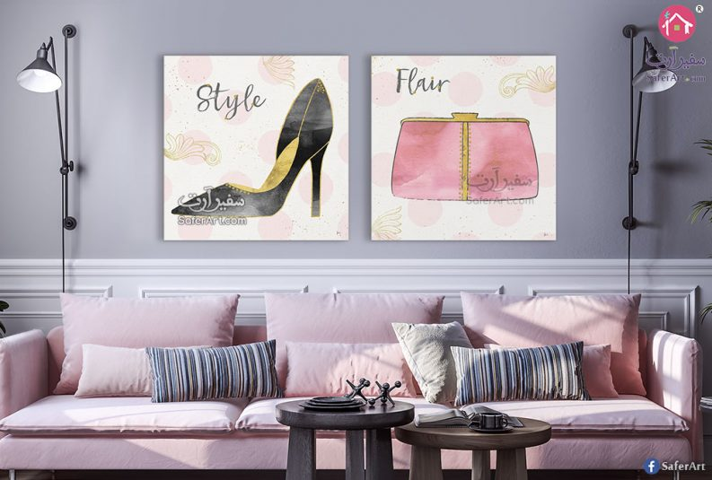 تابلوه حائط مميز لغرف البنات رسومات مقتنيات بنات