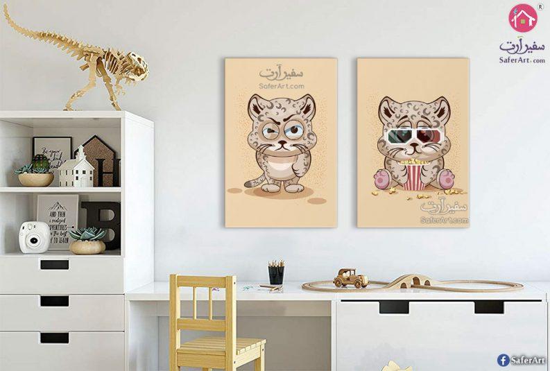لوحات حائط القطه