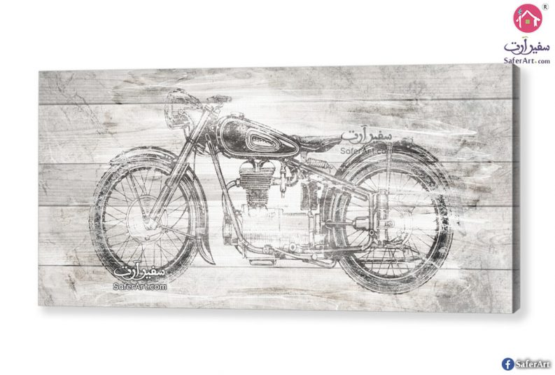 لوحة لدراجة شباب