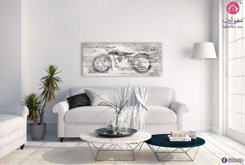 لوحة فنية لدراجة