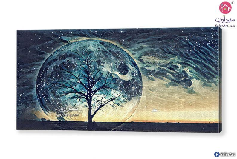 لوحة للقمر الأزرق