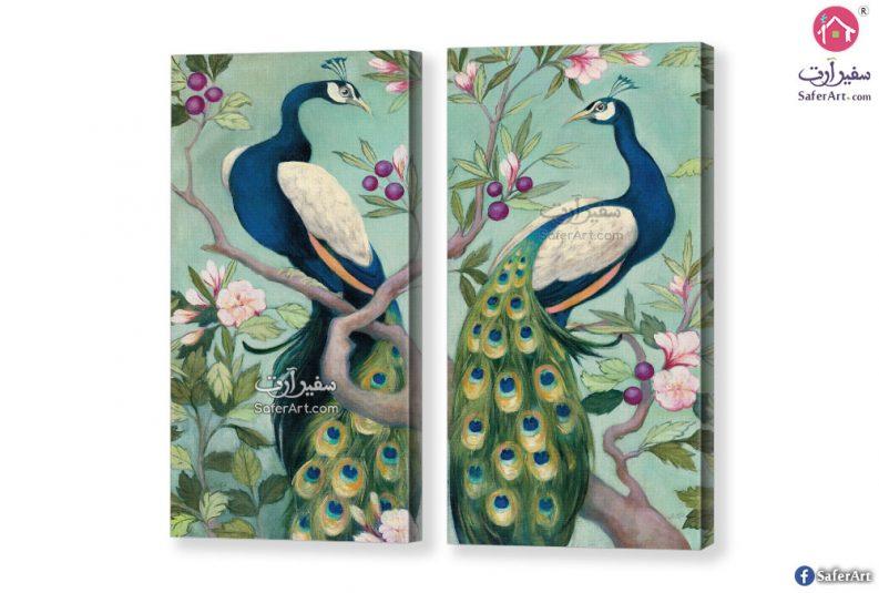 لوحة مودرن لطاووس بألوان جذابة