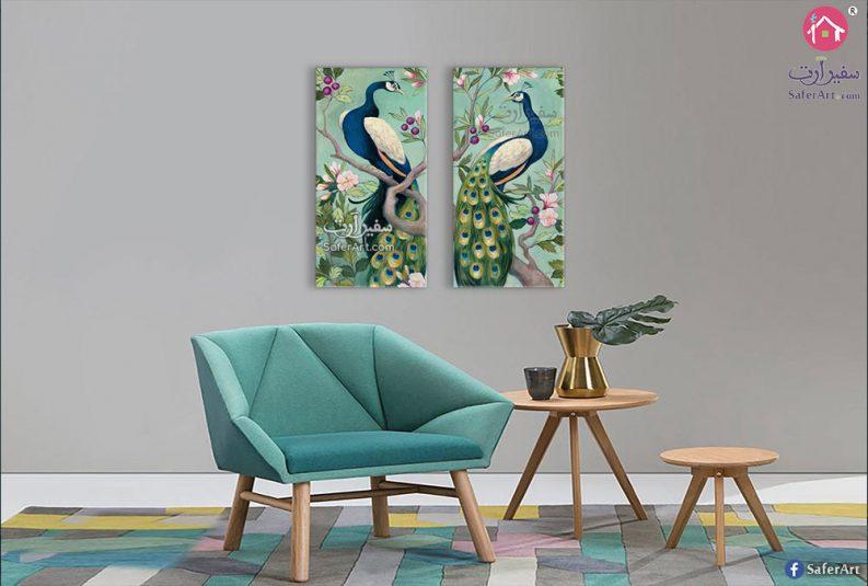 لوحة طاووس