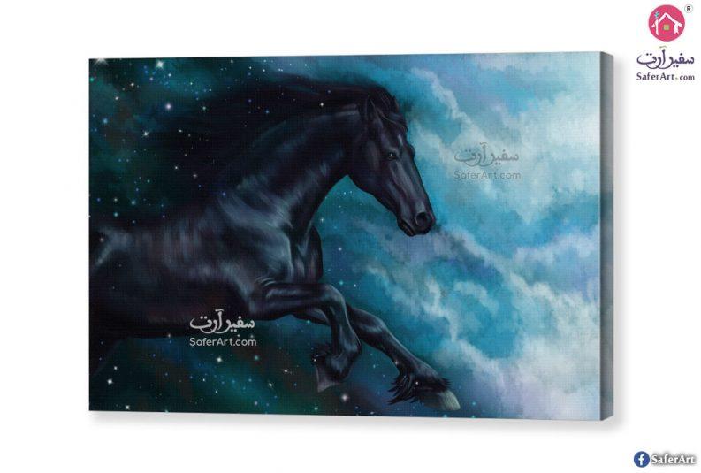 تابلوه حصان أسود