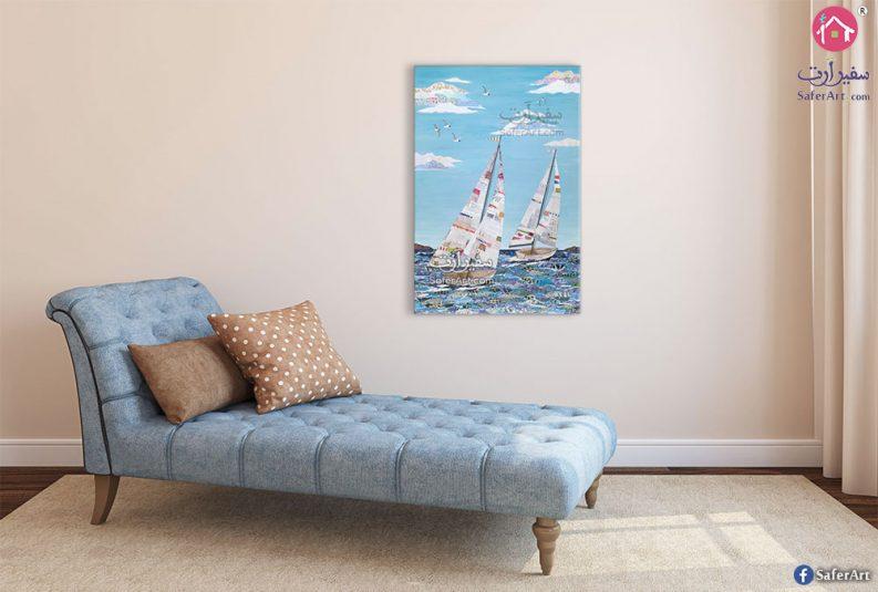 لوحات بحر ومركب شراعي