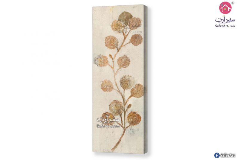 تابلوه مودرن زهور ذهبية لامعة