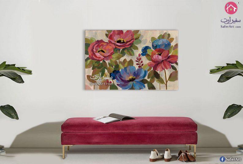 لوحة فنية ورود وزهور