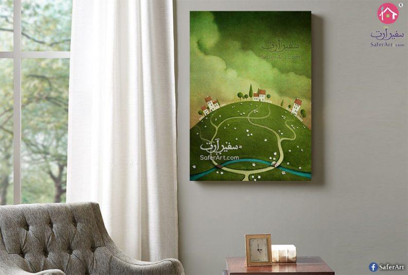 لوحة فنية لتل أخضر