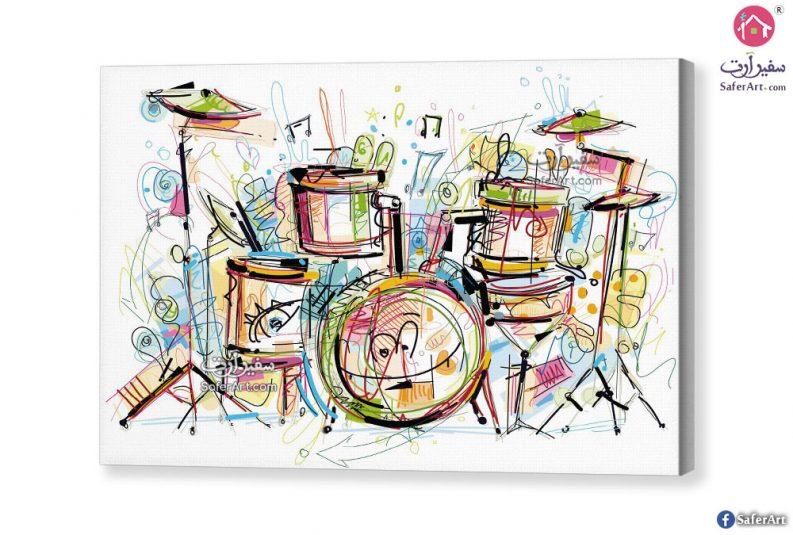 لوحة الات موسيقية بسيطة