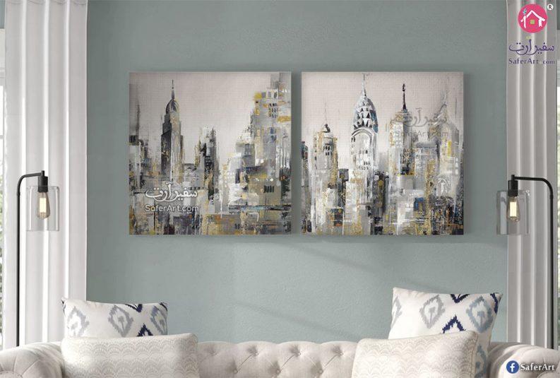 تابلوهات مباني نيويورك