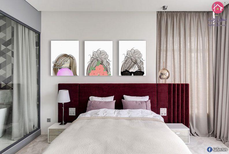 لوحات لغرف للبنات