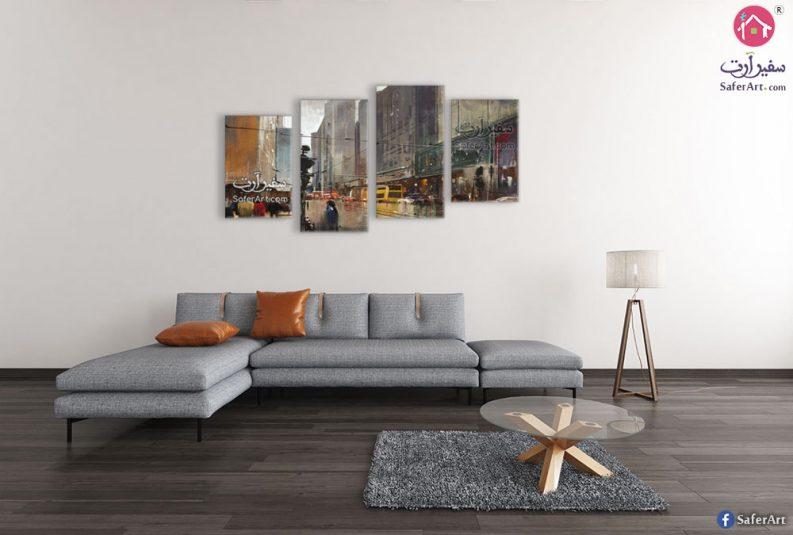 تابلوه مدن وشوارع شهيرة
