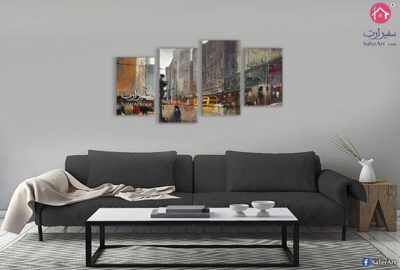 لوحات مدن وشوارع