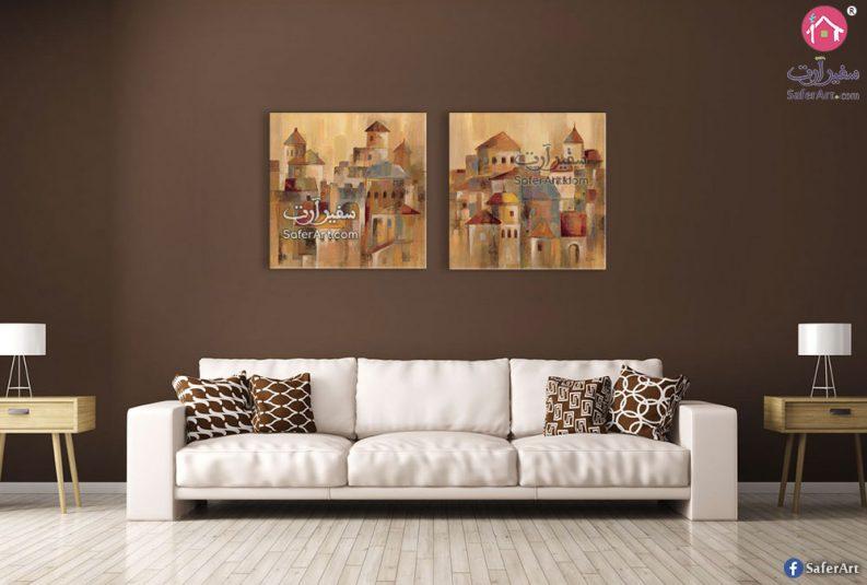 لوحات مودرن لغرف المعيشة
