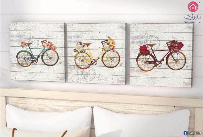 تابلوه دراجات وزهور