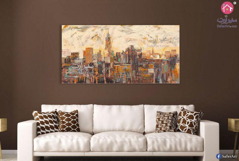 لوحات مودرن مباني نيويورك