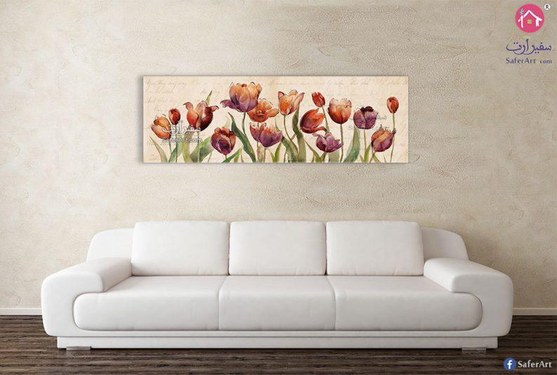 لوحة زهور