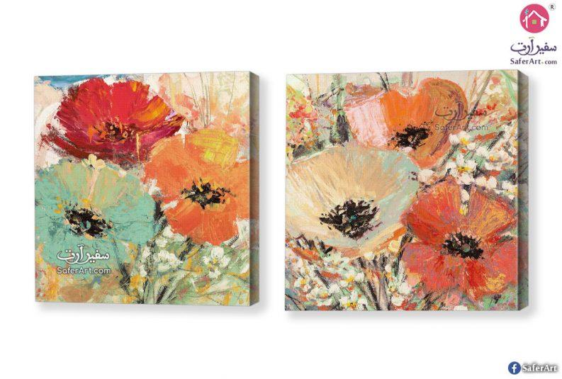 لوحة فنية زهور