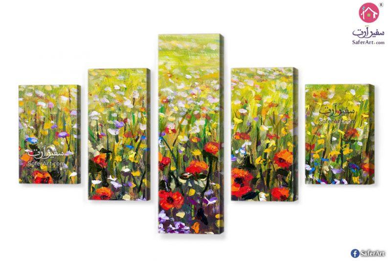 لوحات مودرن زهور
