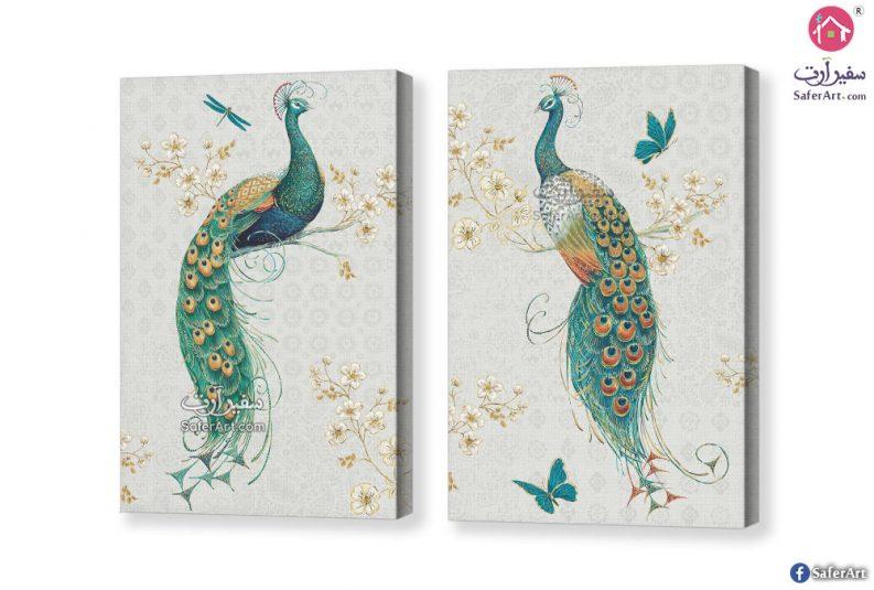 لوحة فنية طاووس
