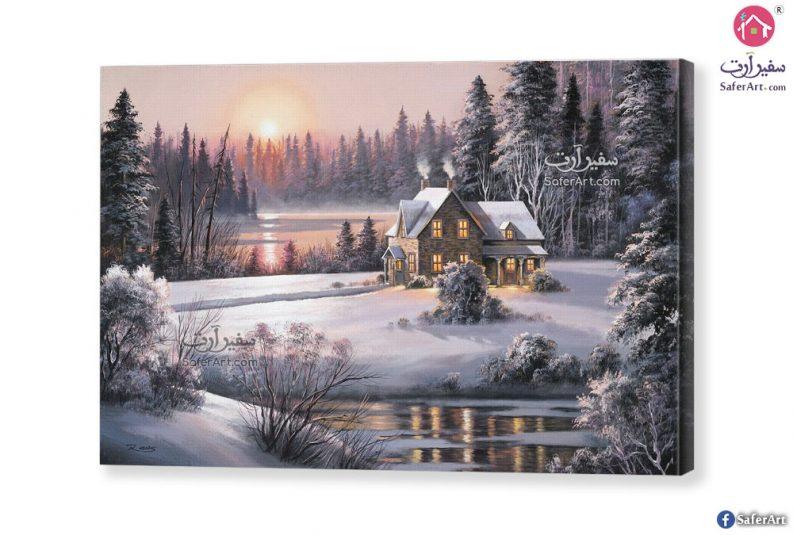 لوحة جليد الشتاء