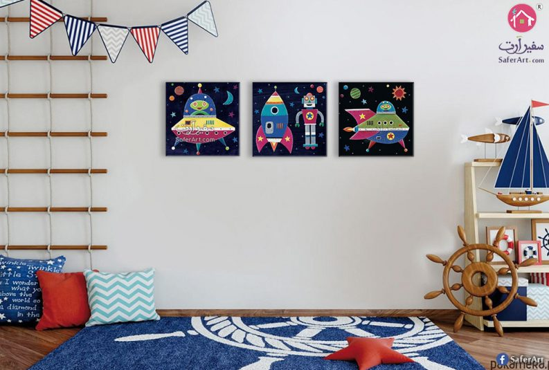 لوحات أطفال فضاء