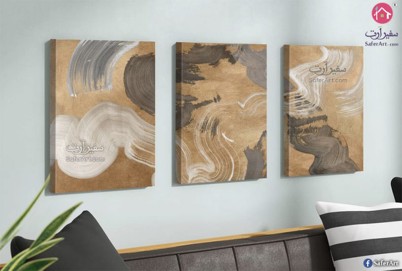 لوحات مودرن باللون الذهبي