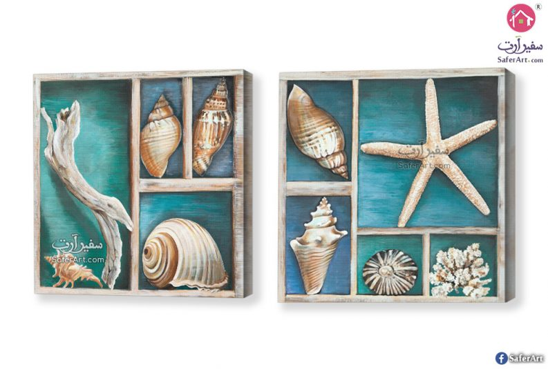 لوحات مودرن كائنات بحرية
