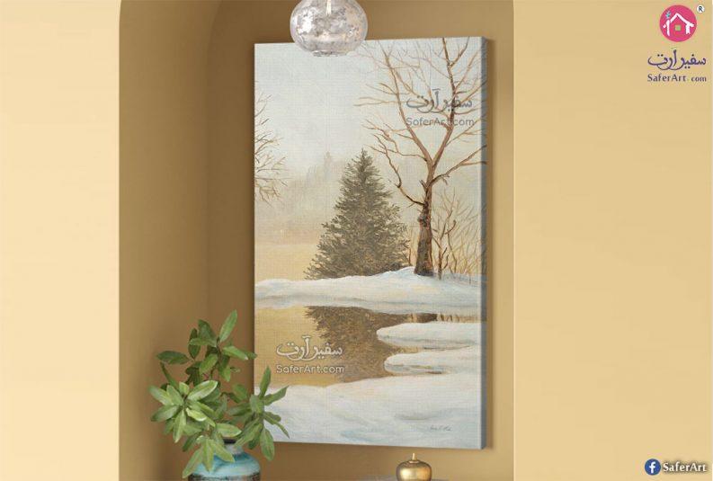 لوحة فنية فصل الشتاء