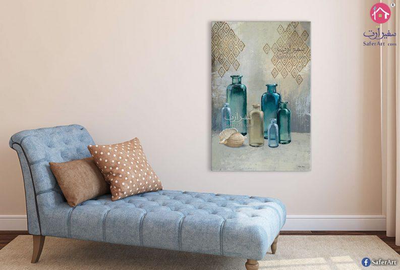لوحات قوارير زجاجية