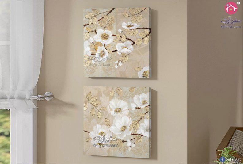 لوحات مودرن ذهبي