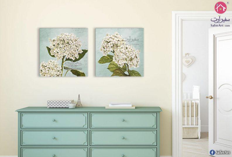 لوحات حوائط ورود بيضاء