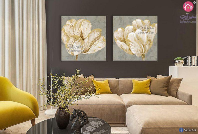 لوحات ورود ذهبية