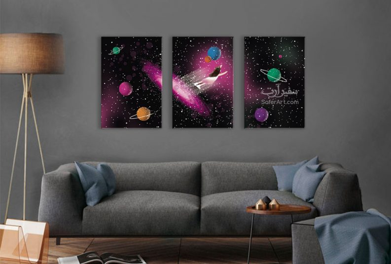 تابلوه مودرن الفضاء