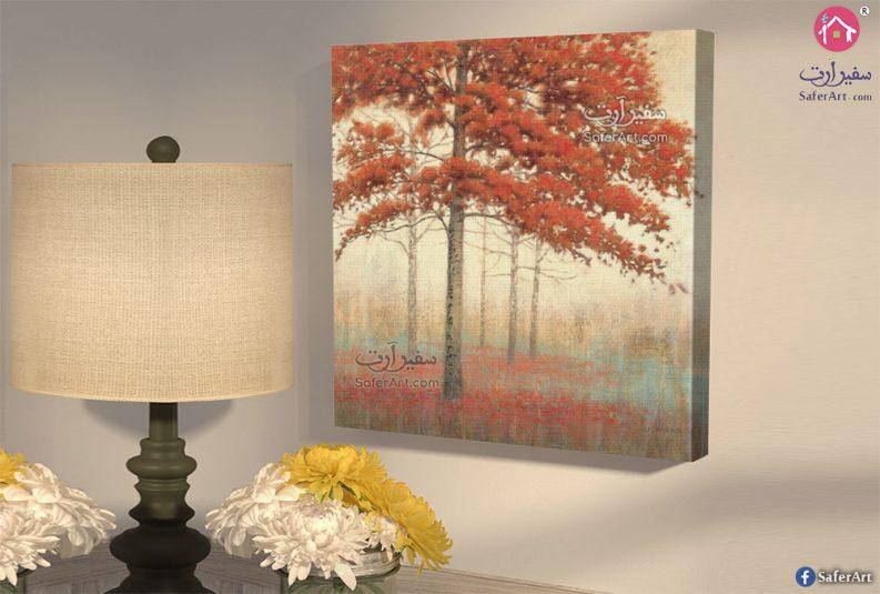 لوحة أشجار الخريف